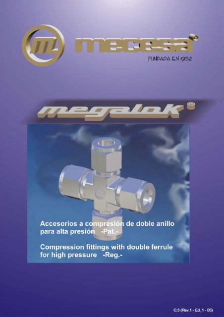 Tube fittings with double ferrule compression system Megalok®