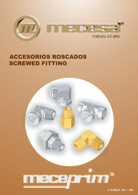 Threaded fittings ANSI/ASME B31.1-3 little-thickness Meceprim®
